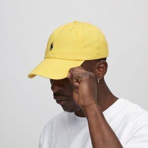 POLO ralph lauren yellow baseball cap